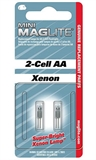 Maglite - 2 Cell AA Xenon Bulbs (2 Pk)-lighting-Living Simply Auckland Ltd