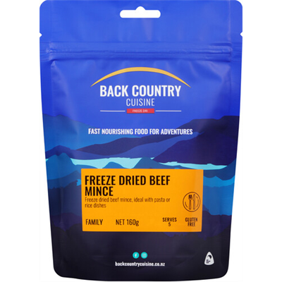 Back Country Cuisine - Freeze Dried Beef Mince 160g