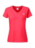 The North Face - Womens Short-Sleeve Reaxion Amp V-neck T-Shirt-shirts-Living Simply Auckland Ltd