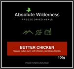 Absolute Wilderness - Butter Chicken -freeze dried-Living Simply Auckland Ltd