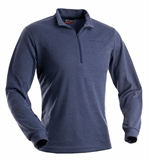 Earth Sea Sky First Layer Mid Weight LS Zip Polo Men's-baselayer (thermals)-Living Simply Auckland Ltd