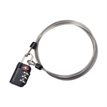 Eagle Creek - 3 Dial TSA Lock with Cable-travel accessories-Living Simply Auckland Ltd
