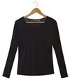 Silkbody - Puresilk Sheer Long Sleeve Scoop Top-baselayer (thermals)-Living Simply Auckland Ltd