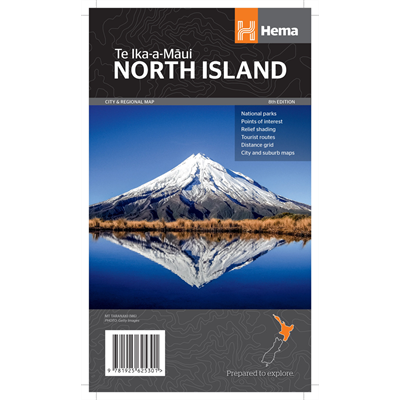 Hema - North Island 1:1000000 Map