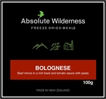Absolute Wilderness - Bolognese 100g-1 serve meals-Living Simply Auckland Ltd
