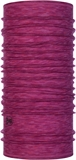 Buff - Lightweight Merino Raspberry Multi Stripes-neck wear-Living Simply Auckland Ltd